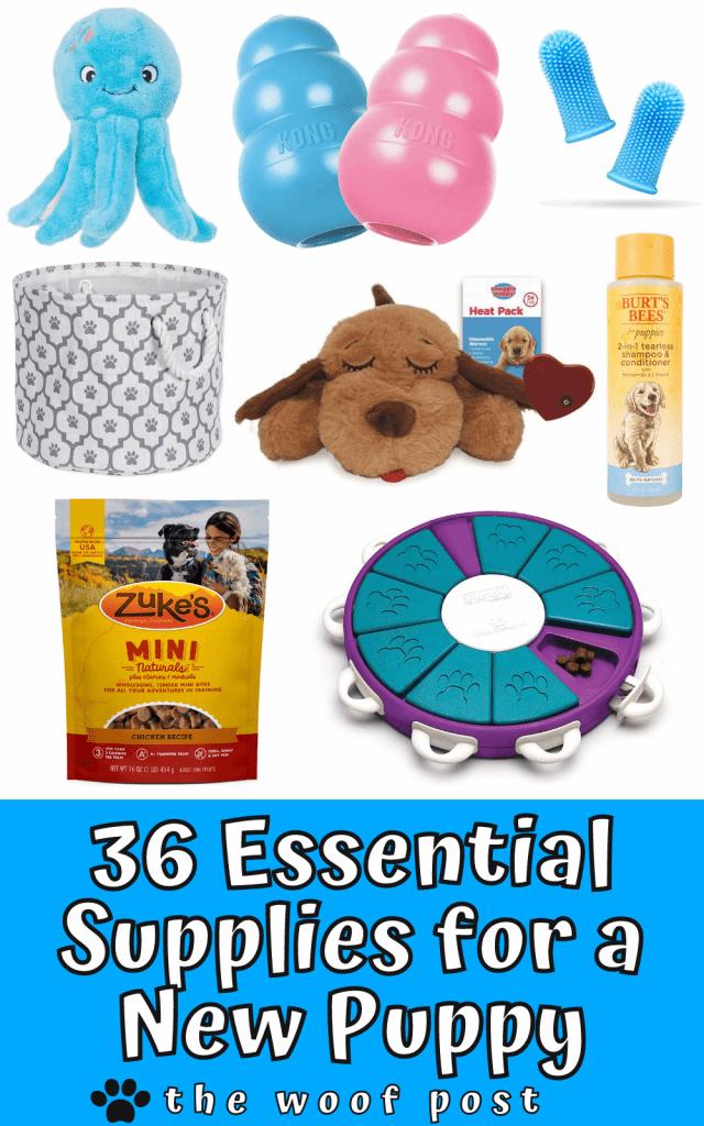 New Puppy Checklist - 36 Essential Supplies for a New Puppy
