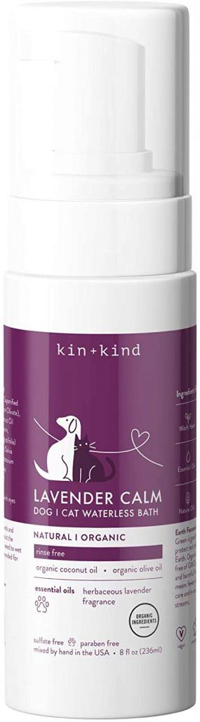 kin+kind Organic Waterless Shampoo for Dogs and Cats