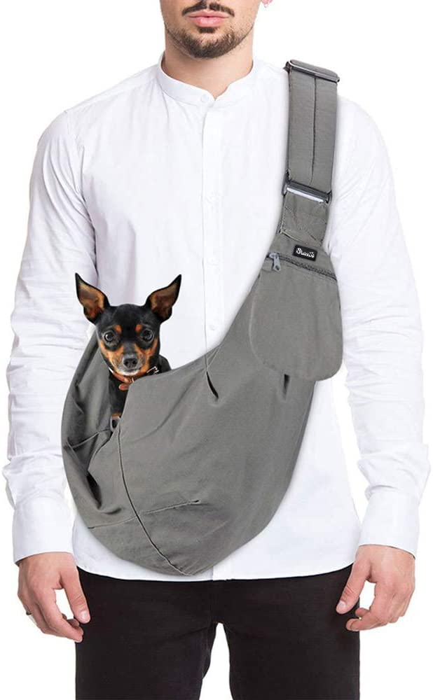 Best Dog Carrier Backpacks: SlowTon Sling Backpack Carrier - Best for Grocery Store and Park